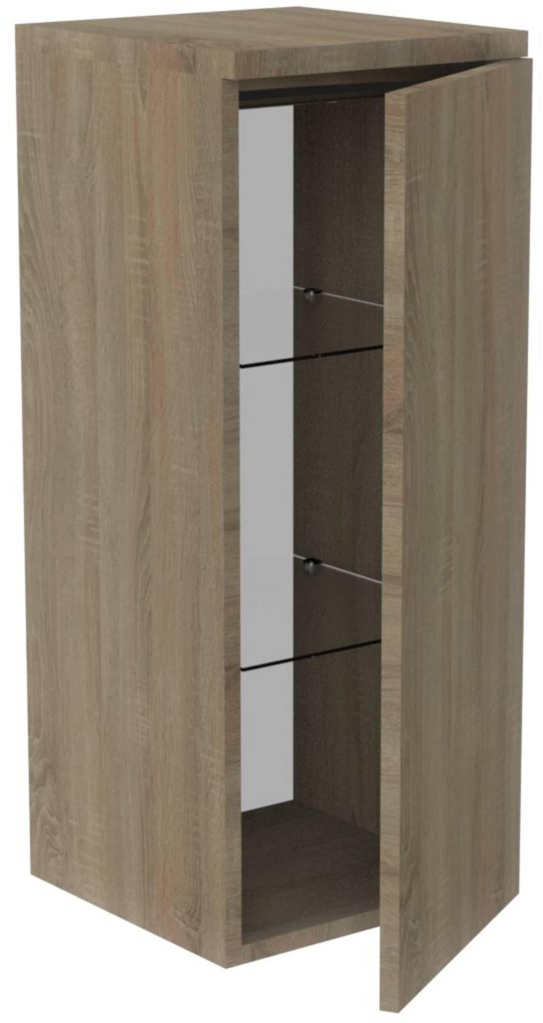 Thebalux Allure Halfhoge Kast 35x35x85 cm Zijdeglans Wit