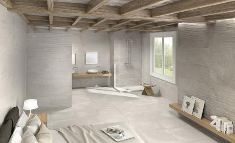 Badkamer en slaapkamer in één