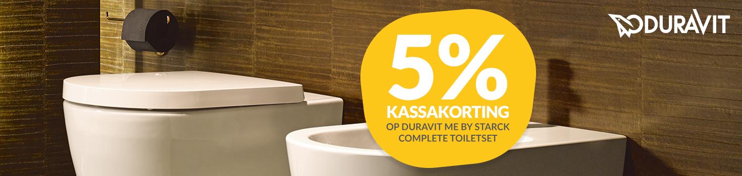 Korting op Duravit toiletsets