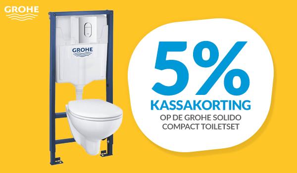 Kassakorting op Grohe Solido toiletset