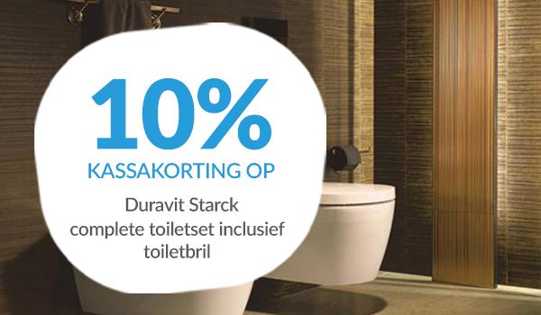 10% kassakorting op Duravit Starck toiletten