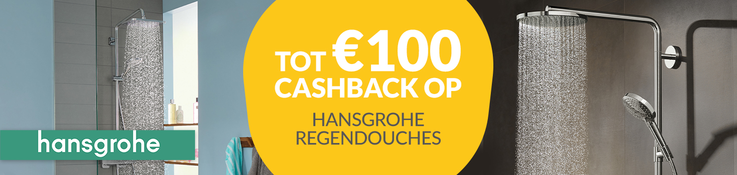 Cashback op Hansgrohe regendouches