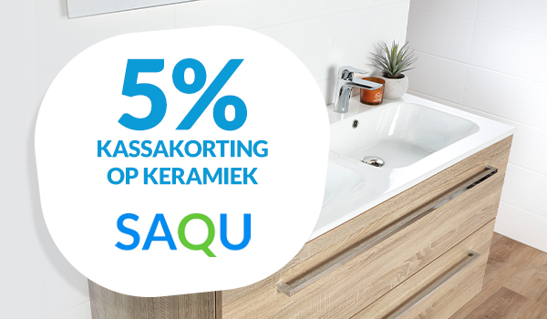 5% korting op Saqu keramiek