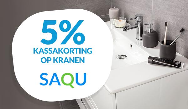 5% korting op Saqu kranen