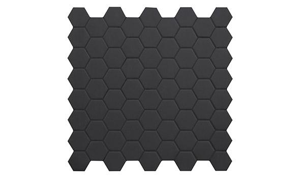 Hexagon tegels op een matje