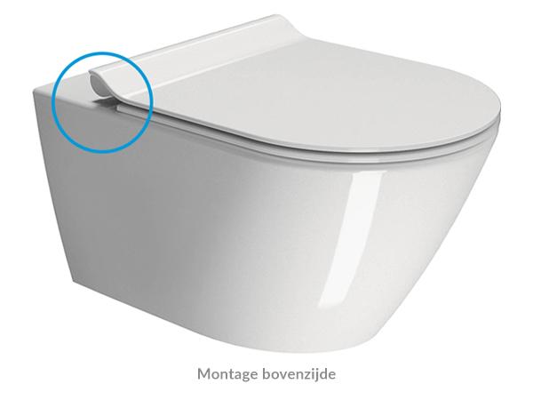 Montage toiletbril bovenkant