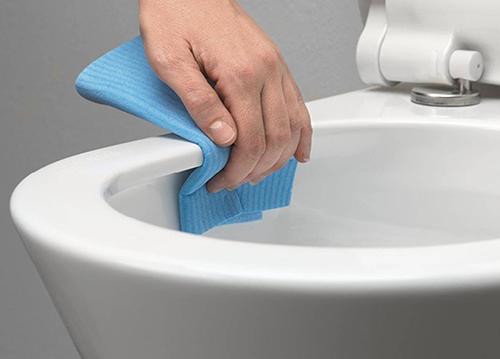 Vuilafstotend toilet