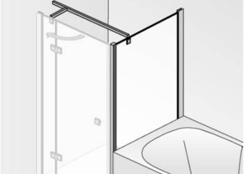 Verkorte zijwand voor douchedeur