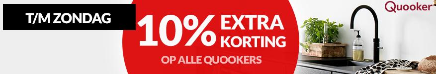 10% korting op alle Quookers