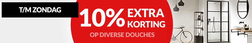 10% korting op diverse douches