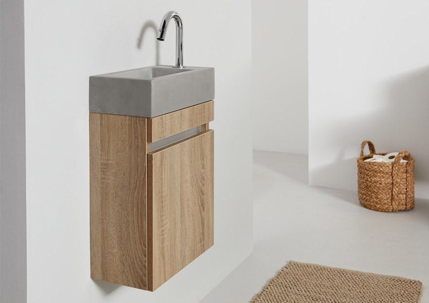 Houten Onderkast Badkamer : Beton in de badkamer inspiratie saniweb