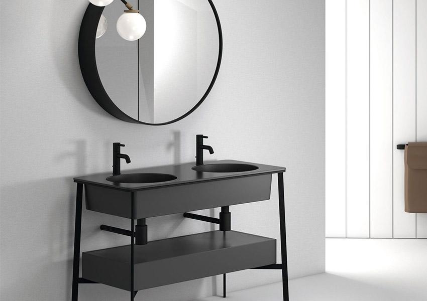 Zwarte Ronde Spiegel : Spiegel badkamer rond badkamer spiegel rond dortchdesigns tag