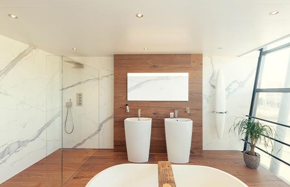 Luxalon badkamer plafond