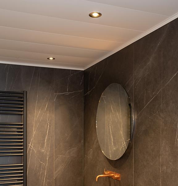 Luxalon plafond met spot