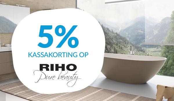 5% kassakorting op Riho